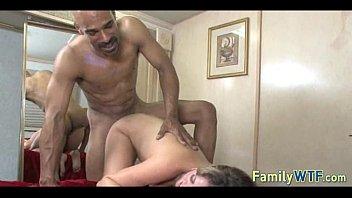 black daughter watching dad Asian leggings porn4