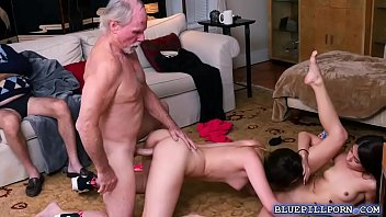 man oldwomen xnxx and old Daddy fucks mother and daughter threesome
