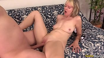 mature shared woman with boy Working the hole close up