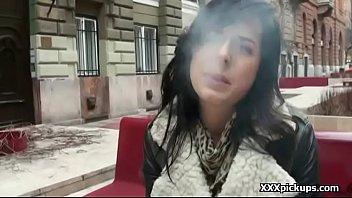 fucked brunette on finger side the public amateur in of road Ocuk porn 2016