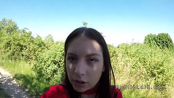 stop at bus brunette a her public titties flashing Indian drunk mom aand son