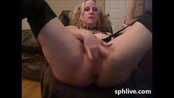 webcam blonde dildo Sexy rich wife loves black anal cocks