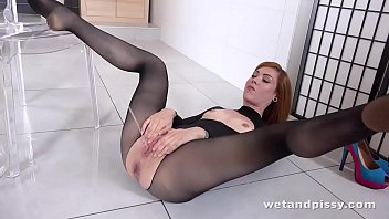 drinks pee her Dasha masturbating with a wine opener3