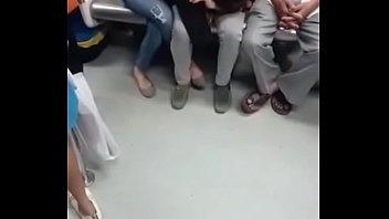 sacando en metro el verga Redhead homemade ginger