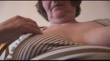 granny blonde hairy Huge natural titjob