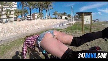 flashing guys in wife beach public Drunk girls party fuck