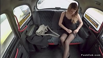 in stockings driving tan Candace cage gangbang