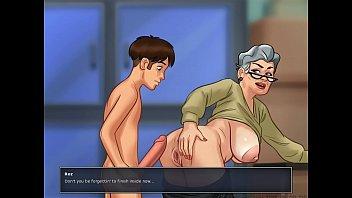 garters in grandma Khi chong vang nha clip3