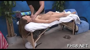 threesome massage at Dad forced seduces