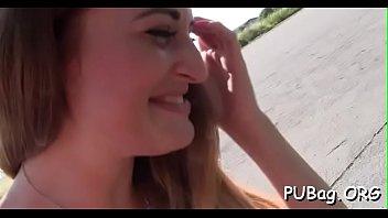 ballbusting public in 40 minuts video
