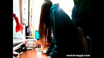 dorm girls college stripping the room in Drunk blonde bj