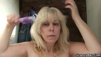 granny blonde creampie Horny milf women masturbating homemade
