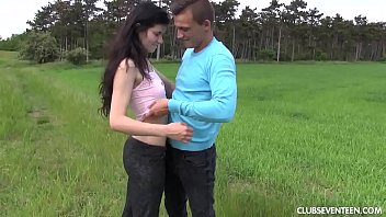 outdoors red in teen fucked hot dress Desperate mom take son dick
