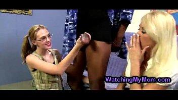 has granny prostitute fun with Public student foursome