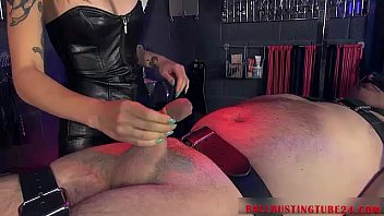 by asian5 ballbusting Brazzers office in hot stocking