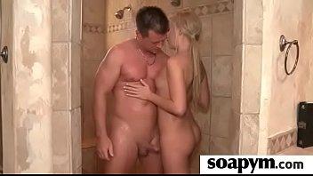 son enema gives soapy Man share women