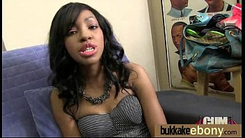 swalllow ebony cum Running tits flop