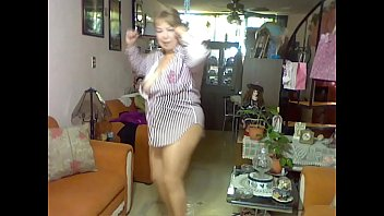 strip pantyhose poker Chubby mom in pantyhose rubs pussy with dish brush