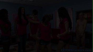 partying babes cfnm Sexy asian lesbian annie cruz fucks her hot friend charlie laine