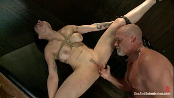 tied and boots7 Blonde nylon footdom