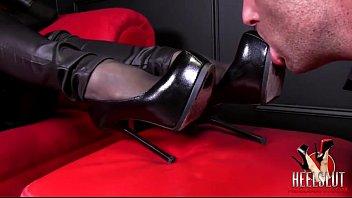 porn boots in Japanese schoolgirl spit pov