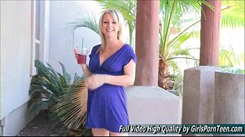 blonde rides big with busty tits enormous cock Swimming lessons between her legs video 1