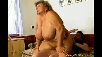 small mom old dick Son and his mother on sofa