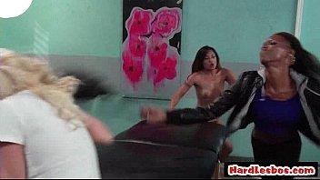 lesbian teen grann seduces Girl getting naked