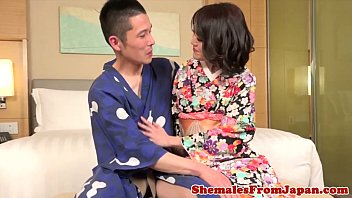 in train asien fucks ladyboy Asian chick s lips look good gripping a cock