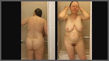 in my mom shower Jap nurse solo play