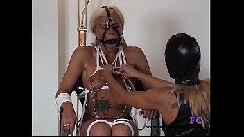 girls bondage on device Passionate tribbing and kissing
