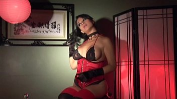 latina gloves rubber and Full time slave