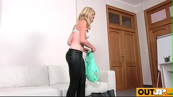 shy casting facial Woman dominate 2guys
