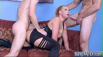 dakota phoenix and mommys marie james girl at Busty blonde gets fucked by two horny old men