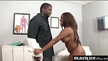 ebony dark booty anal bigass Jenny mcclain covers her sweet nipples and stomach with a cream