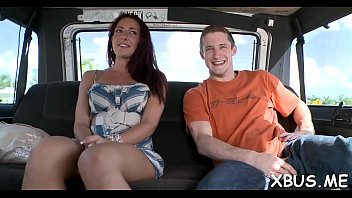 on fucked la schoolgirl a car Several guys jerk off