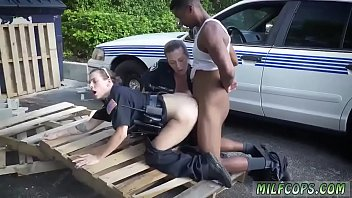 girl on street cum Niky thepair woodman