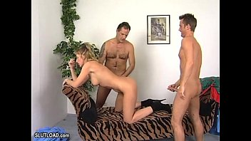 guys hot two wanking Mom and daughter double fucked by two sons