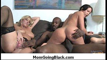 hardcore black clip58 watching sex mom my interracial super go Gangbanged by big black cocks