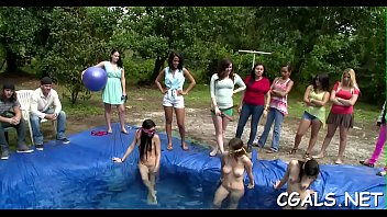 the pool seachgirl in masterbating Marcias twat a xxx brady parody scene 43