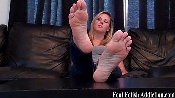 fetish foot leggings in Milf dildo ride rear view