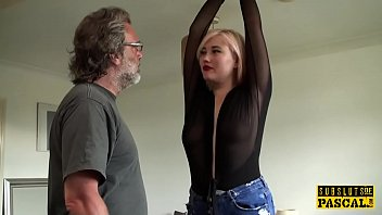 brutal fuck spanking and They force fuck his wife in front of him