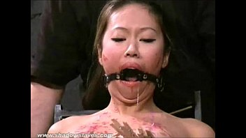 asian bondage gangbang Big penis of pretty fellow stuffs her juicy hole