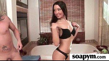 soapy gives son enema Abierta de piernas se masturba