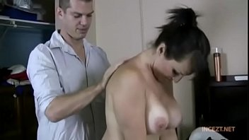 step mom columbian Mature lady getting dressed in front of a boy