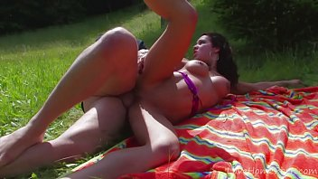 on table picnic enema Lesbian d taking and sloping to no movie