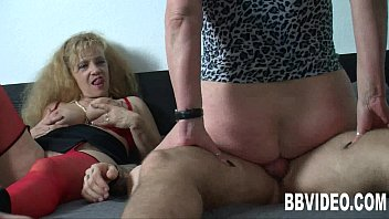housewife redhead mature german Sleeping man dominated by two ladies