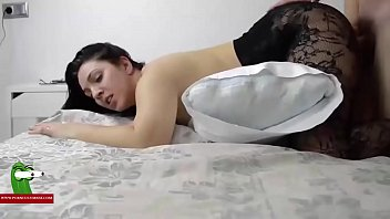 brunette by cheater bf black pumped Busty sleeping milf forced