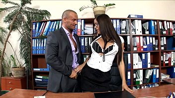 office real secretary Anal little kinky