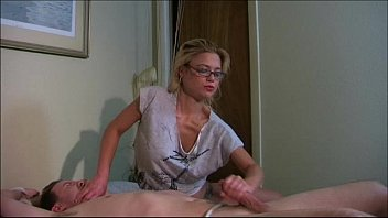bed face to down tied Dancingcock cum on blond face